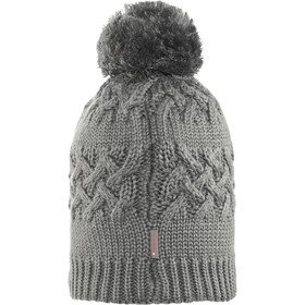 Buff Savva Knitted & Polar Fleece Hat Grey Castlerock